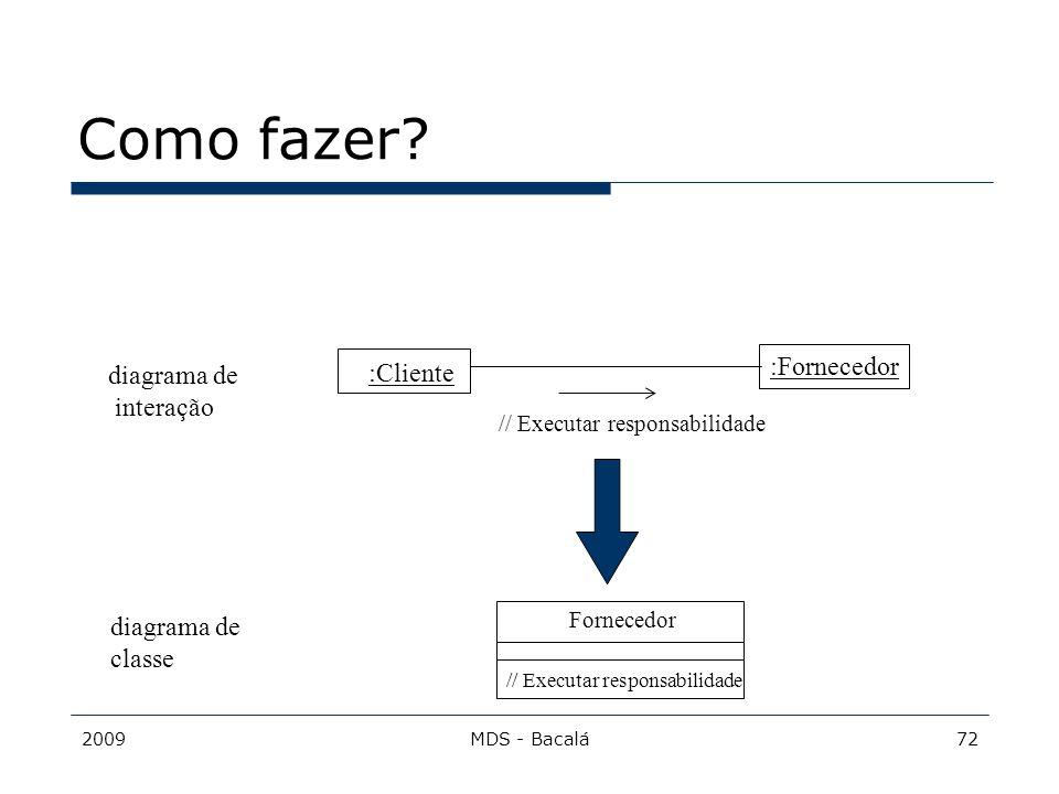 2009MDS - Bacalá72 Como fazer? :Cliente :Fornecedor // Executar responsabilidade Fornecedor // Executar responsabilidade diagrama de classe diagrama d