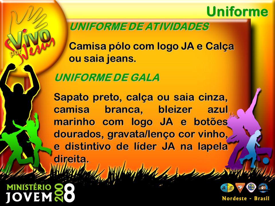 Uniforme UNIFORME DE ATIVIDADES Camisa pólo com logo JA e Calça ou saia jeans.