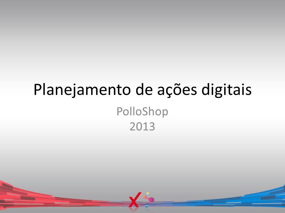 Planejamento de ações digitais PolloShop 2013