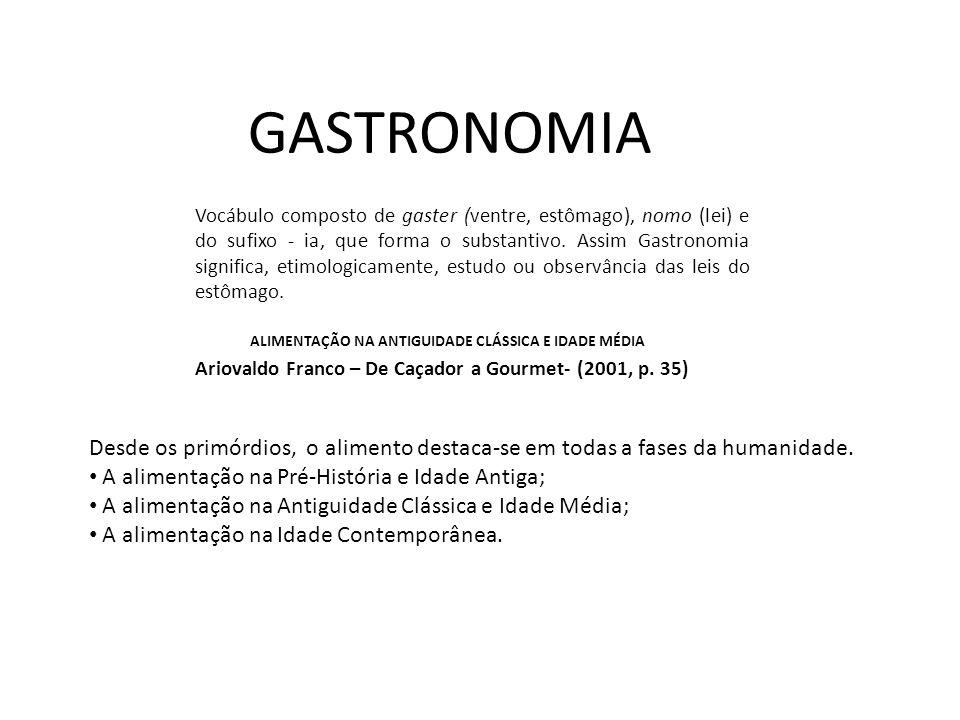 Vocábulo composto de gaster (ventre, estômago), nomo (lei) e do sufixo - ia, que forma o substantivo. Assim Gastronomia significa, etimologicamente, e