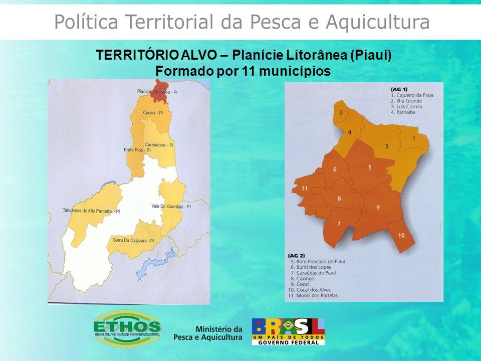 TERRITÓRIO ALVO – Planície Litorânea (Piauí) Formado por 11 municípios