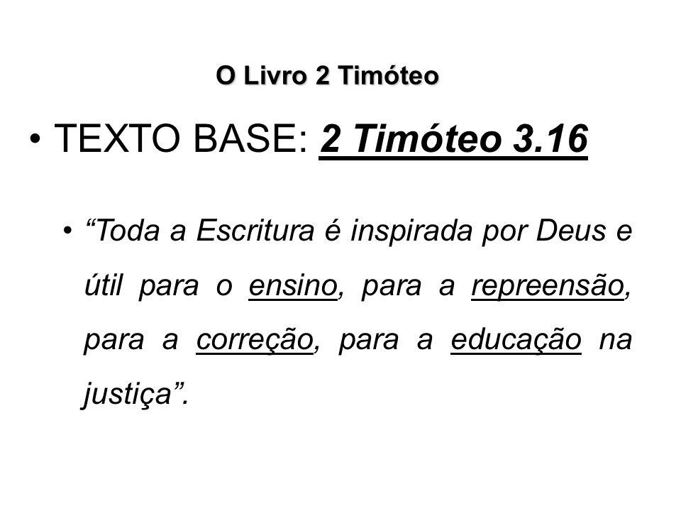O Livro 2 Timóteo A segunda Grande Responsabilidade está na recomendação de ENSINAR A PALAVRA, conforme 2 Timóteo 2.2.