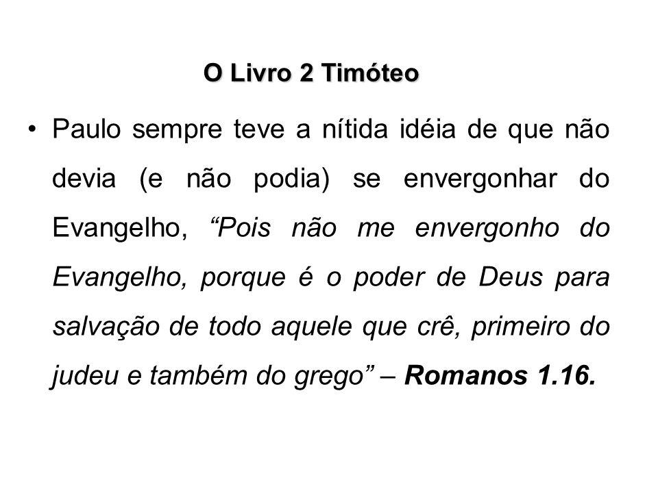 O Livro 2 Timóteo Paulo trata, ainda, no capítulo 2, versículo 20, dos vasos, uns para honra e outros para desonra.
