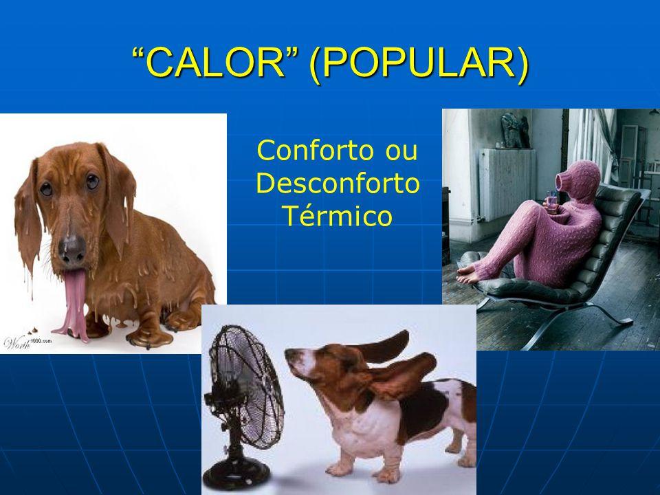 CALOR (POPULAR) Conforto ou Desconforto Térmico