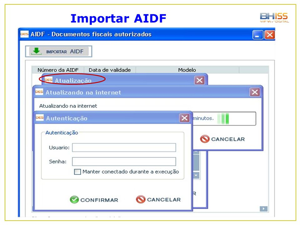 Importar AIDF
