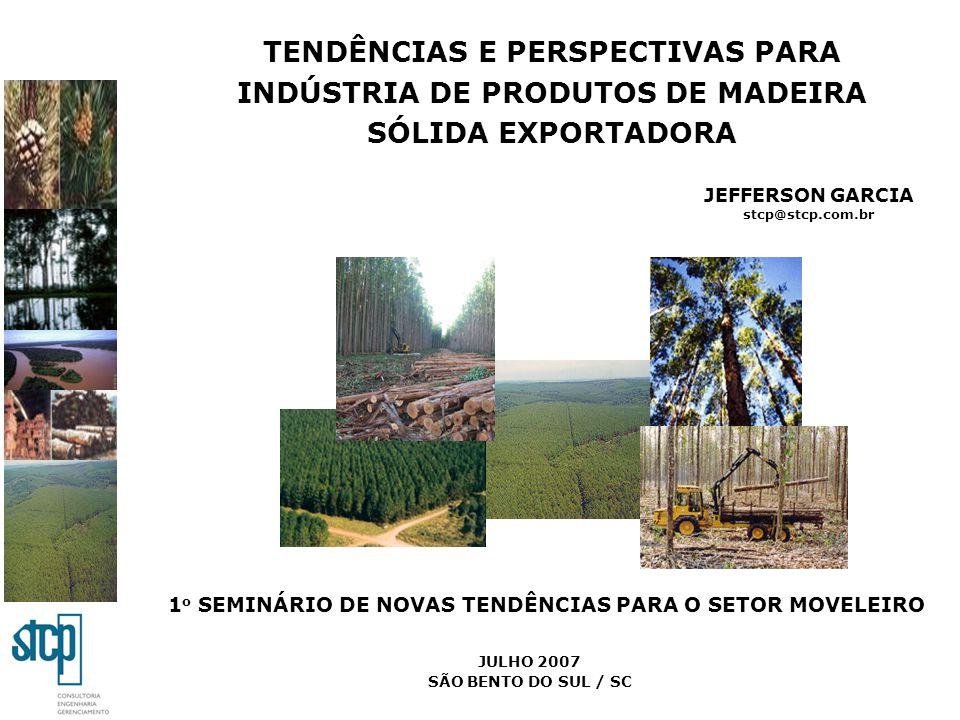 TENDÊNCIAS E PERSPECTIVAS PARA INDÚSTRIA DE PRODUTOS DE MADEIRA SÓLIDA EXPORTADORA JEFFERSON GARCIA stcp@stcp.com.br 1 o SEMINÁRIO DE NOVAS TENDÊNCIAS