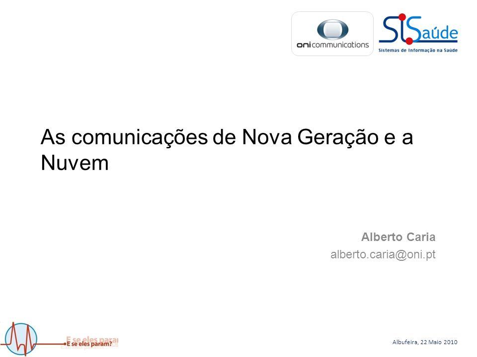 Albufeira, 22 Maio 2010 As comunicações de Nova Geração e a Nuvem Alberto Caria alberto.caria@oni.pt