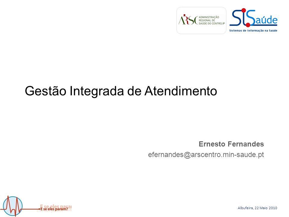 Albufeira, 22 Maio 2010 Gestão Integrada de Atendimento Ernesto Fernandes efernandes@arscentro.min-saude.pt