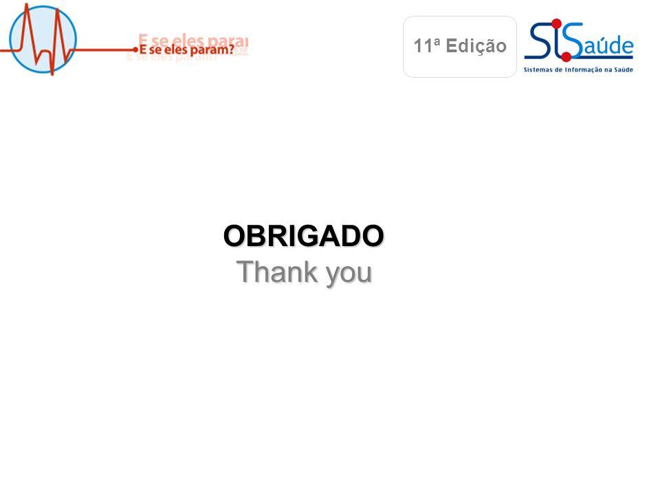 Albufeira, 22 Maio 2010 OBRIGADO Thank you 11ª Edição