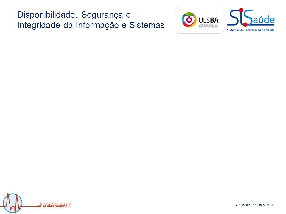 Albufeira, 22 Maio 2010 Disaster Recovery Plan Lucas Ribeiro lucas@chtmad.min-saude.pt Centro Hospitalar Trás-os-Montes e Alto Douro, EPE