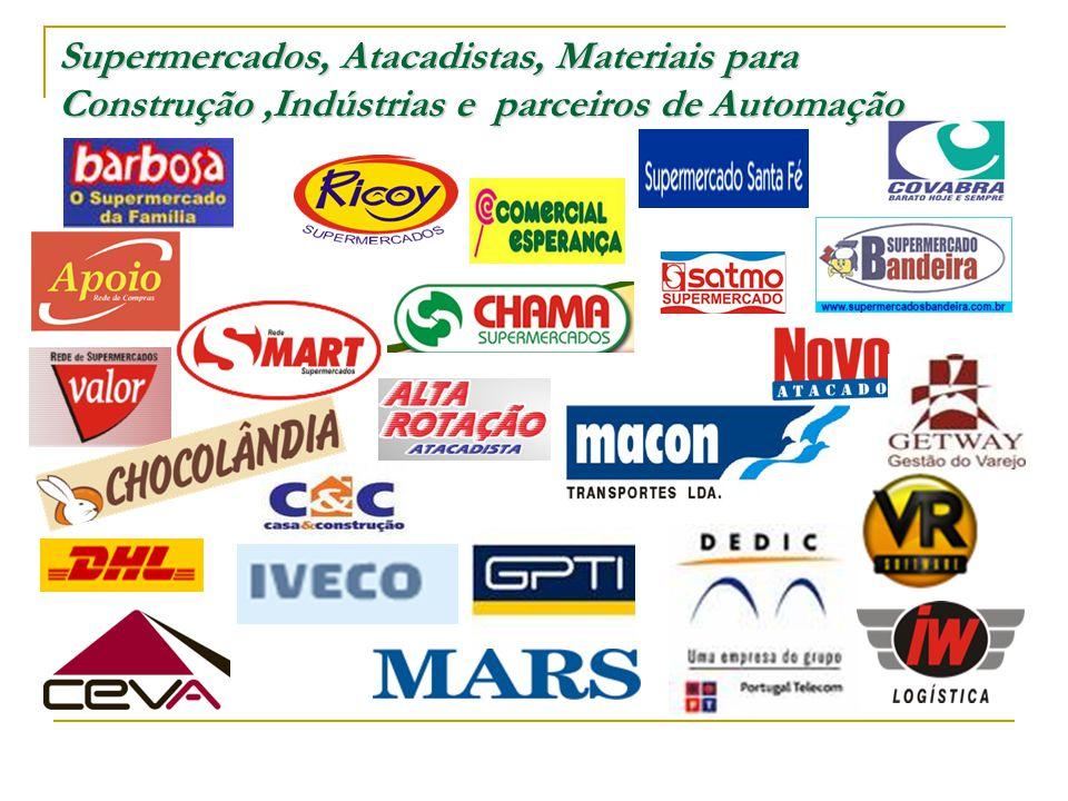 Supermercados, Atacadistas, Materiais para Construção,Indústrias e parceiros de Automação