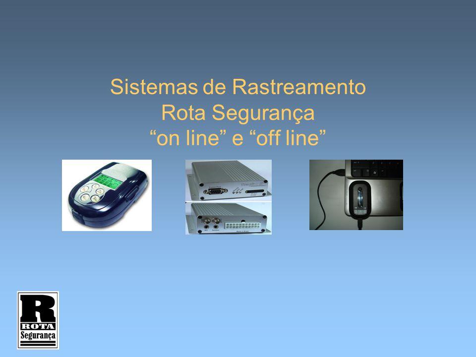"""Sistemas de Rastreamento Rota Segurança """"on line"""" e """"off line"""""""