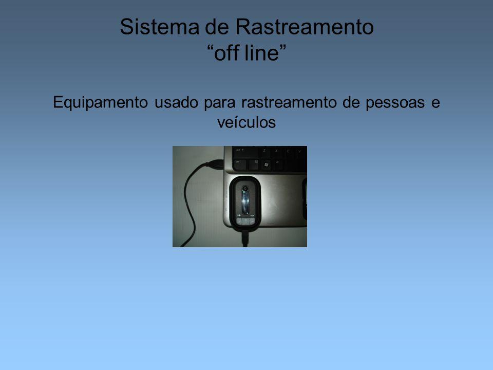 """Sistema de Rastreamento """"off line"""" Equipamento usado para rastreamento de pessoas e veículos"""