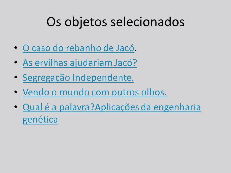 Os objetos selecionados O caso do rebanho de Jacó.