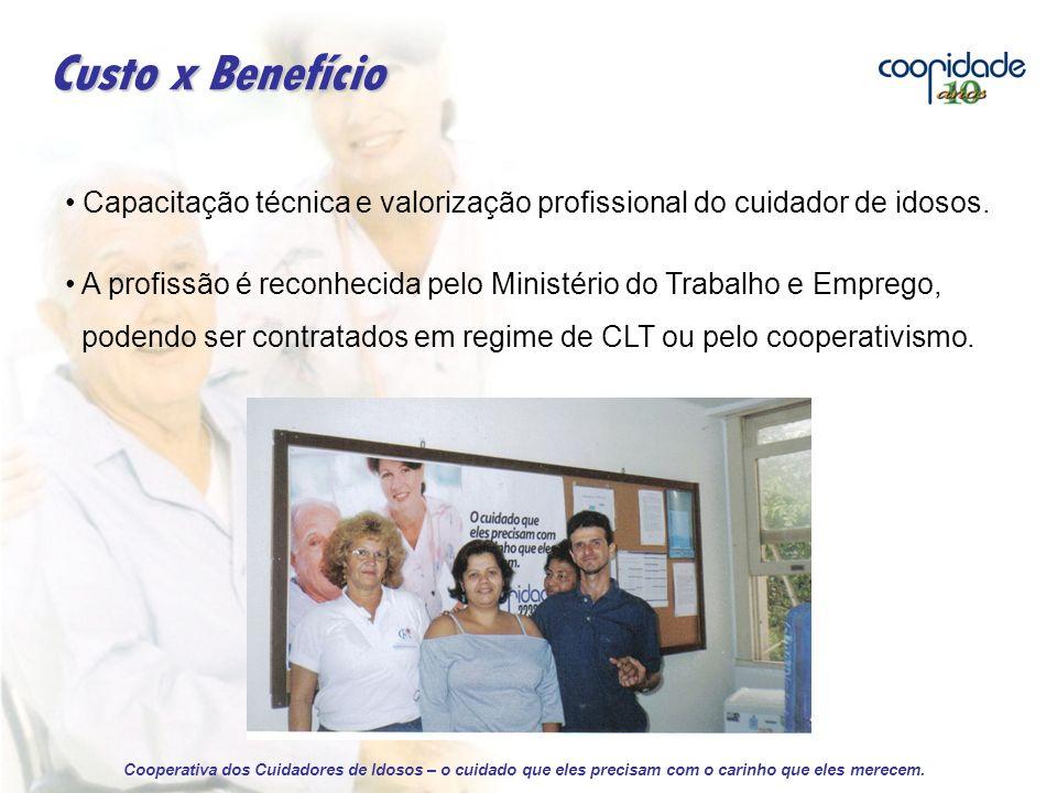 Capacitação técnica e valorização profissional do cuidador de idosos.