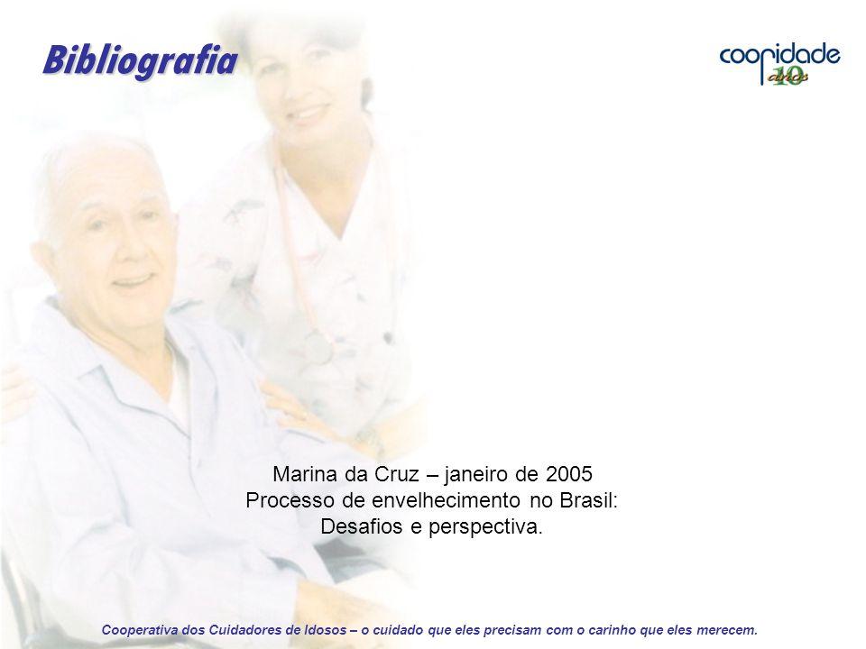 Marina da Cruz – janeiro de 2005 Processo de envelhecimento no Brasil: Desafios e perspectiva.