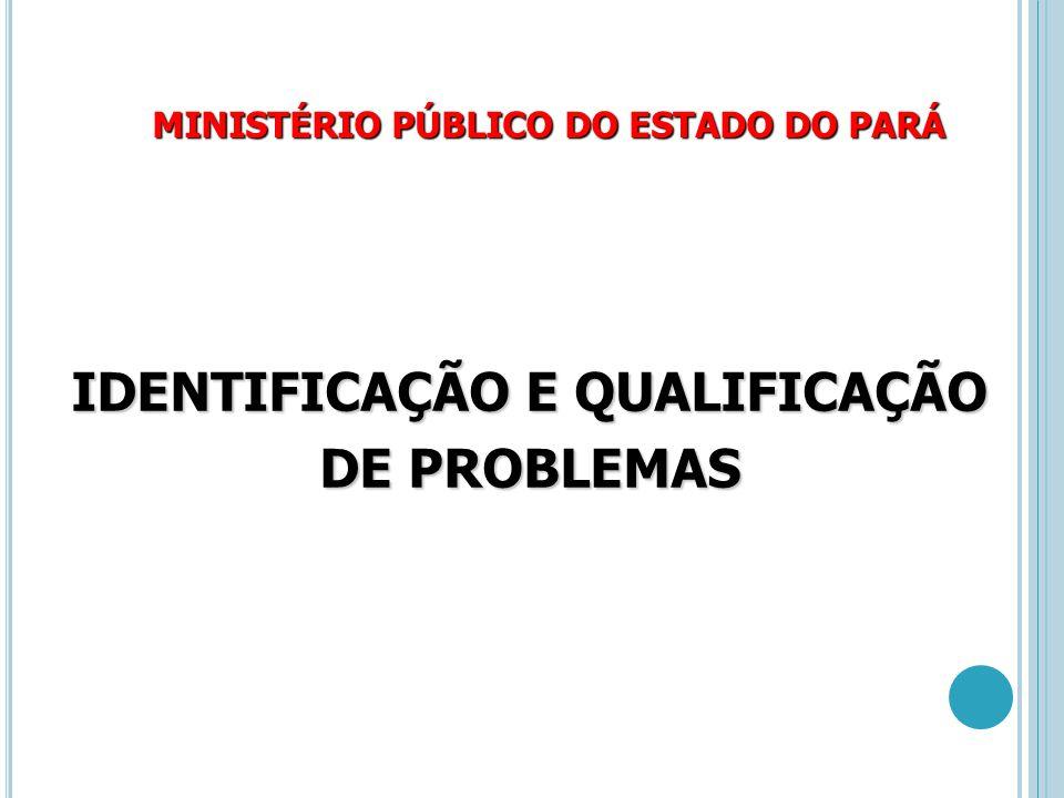 MINISTÉRIO PÚBLICO DO ESTADO DO PARÁ IDENTIFICAÇÃO E QUALIFICAÇÃO DE PROBLEMAS
