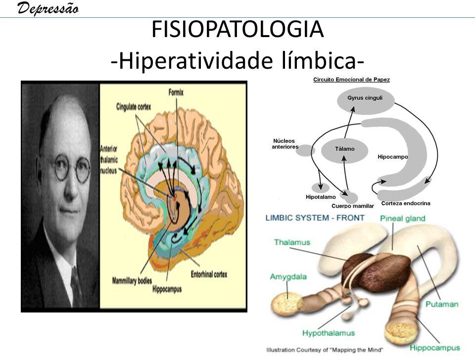 FISIOPATOLOGIA -Hiperatividade límbica- Depressão