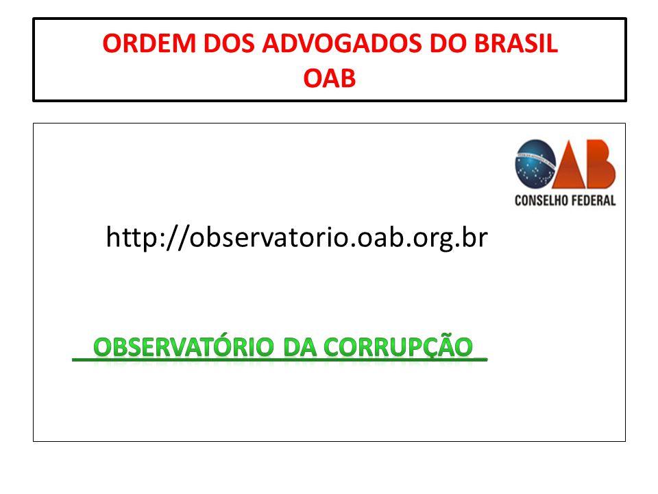 ORDEM DOS ADVOGADOS DO BRASIL OAB