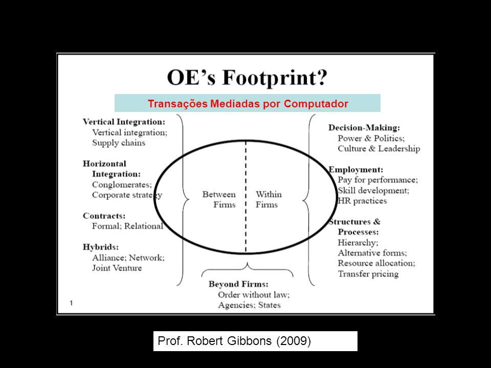 Prof. Robert Gibbons (2009) Transações Mediadas por Computador