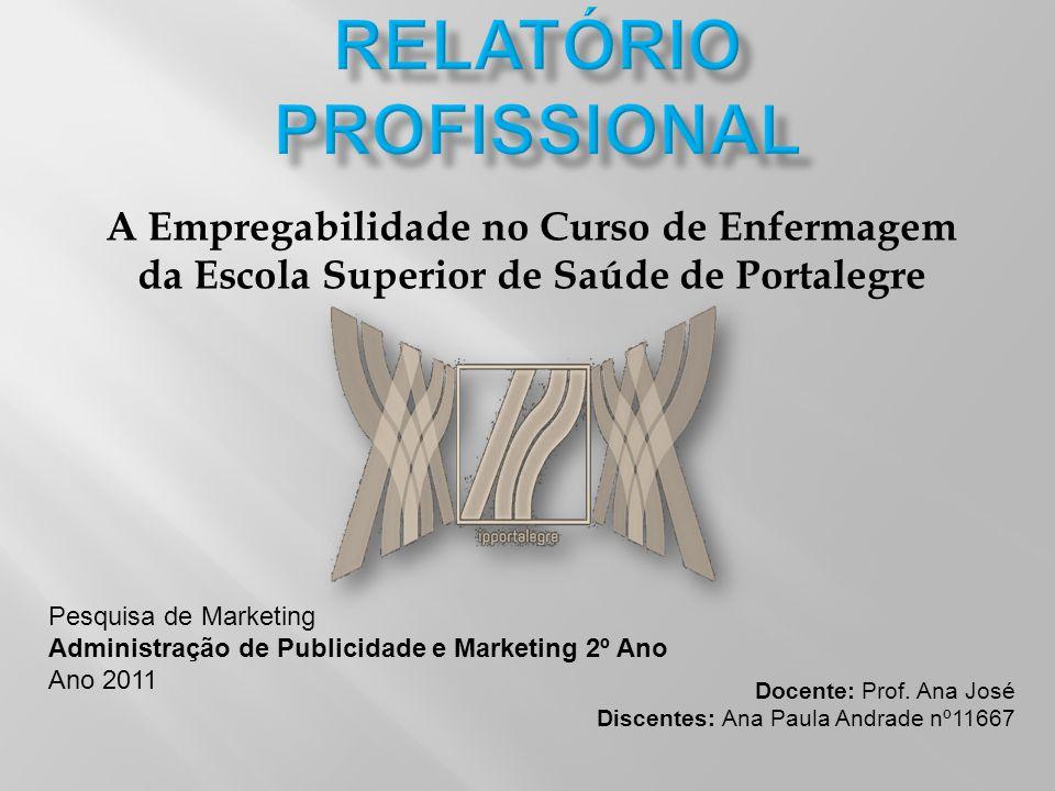 A Empregabilidade no Curso de Enfermagem da Escola Superior de Saúde de Portalegre Pesquisa de Marketing Administração de Publicidade e Marketing 2º A