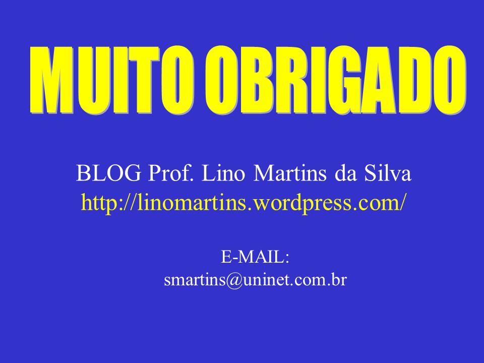 BLOG Prof. Lino Martins da Silva http://linomartins.wordpress.com/ E-MAIL: smartins@uninet.com.br