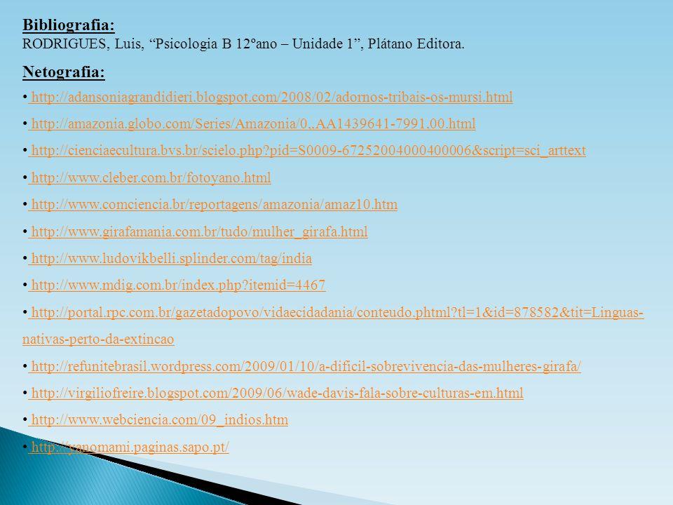 "Bibliografia: RODRIGUES, Luis, ""Psicologia B 12ºano – Unidade 1"", Plátano Editora. Netografia: http://adansoniagrandidieri.blogspot.com/2008/02/adorno"