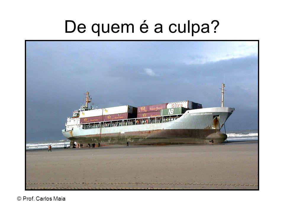 © Prof. Carlos Maia De quem é a culpa?