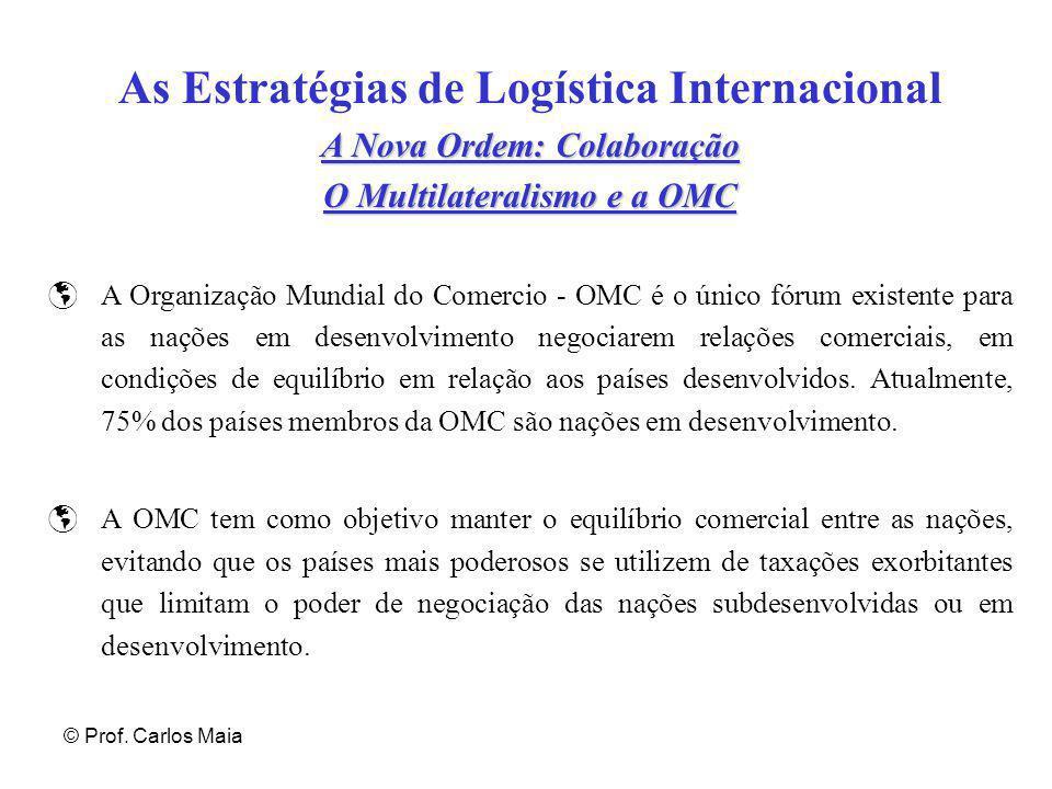 © Prof. Carlos Maia As Estratégias de Logística Internacional A Nova Ordem: Colaboração O Multilateralismo e a OMC  A Organização Mundial do Comercio