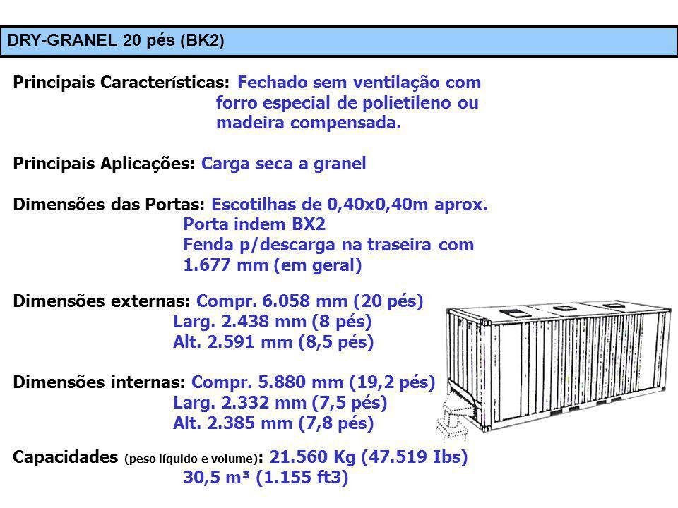© Prof. Carlos Maia DRY-GRANEL 20 pés (BK2) Principais Caracter í sticas: Fechado sem ventilação com forro especial de polietileno ou madeira compensa