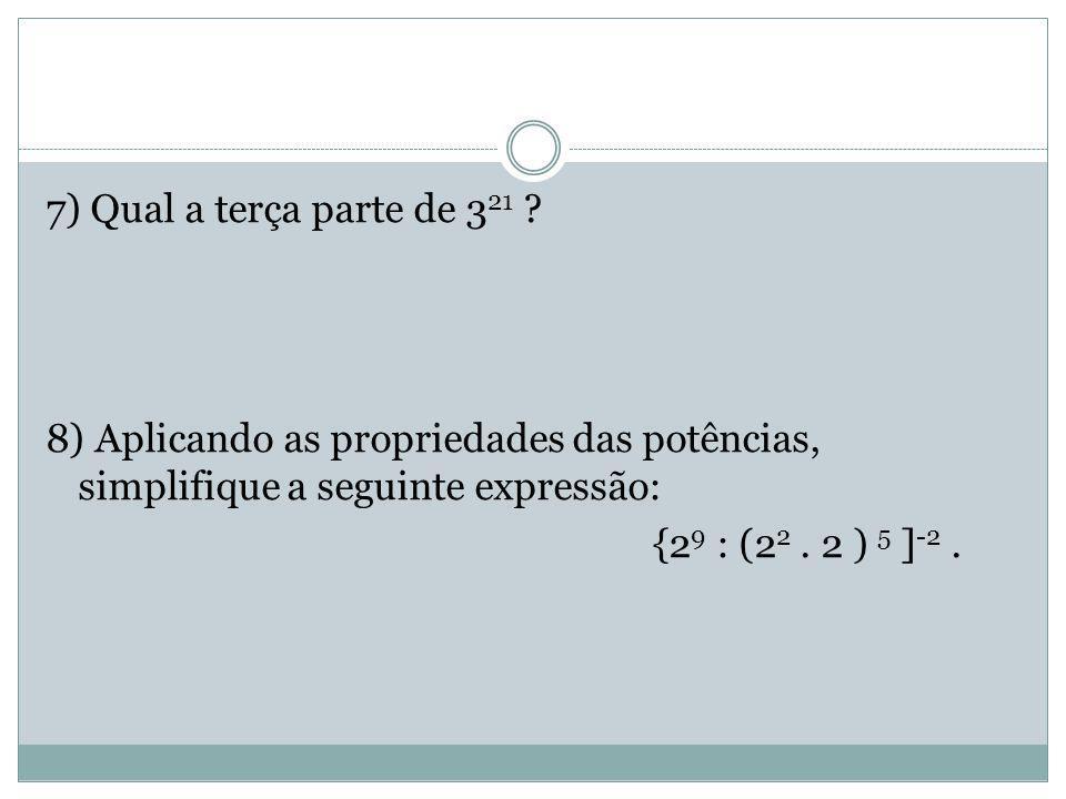 RESPOSTAS Respostas: 1) a) 5 x 10 18 b) 5 x 10 15 2)a) 7 6 b) 5 c) -1,5 3) 50  2% 32  32% 1650  66%