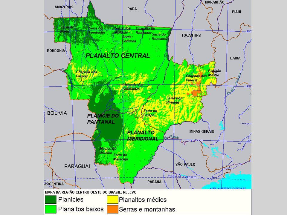 A Região Centro-Oeste é drenada por muitos rios, agrupados em três grandes bacias hidrográficas Bacia Amazônica:, em Mato Grosso, para onde se deslocam rios colossais, como o Xingu, ou rios que formam principais afluentes do rio Amazonas, como o Juruena e o Teles Pires que formam o rio Tapajós; Bacia do Tocantins-Araguaia, ocupando o norte e o ponto mais a oeste de Goiás e o extremo leste de Mato Grosso; Bacia Platina, subdividida em suas bacias hidrográficas: a bacia do rio Paraná e a bacia do rio Paraguai, no restante da região.