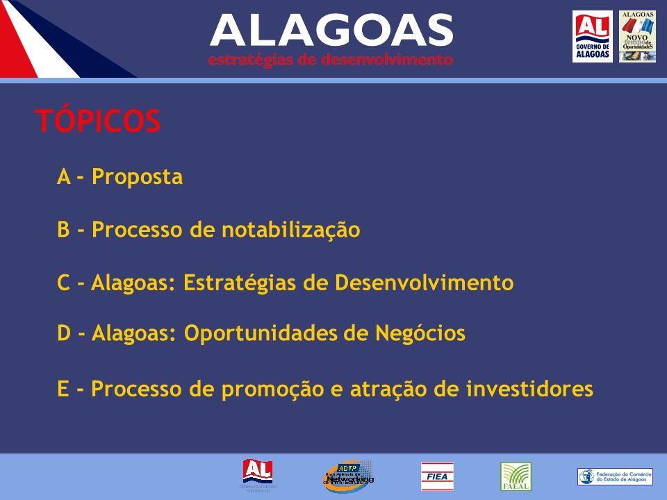Inserir Alagoas na rota do desenvolvimento e atrair investidores para suas potencialidades.