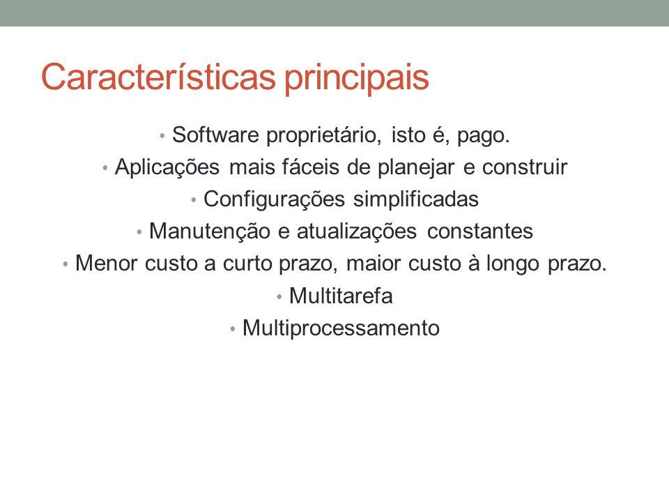 Tipos de servidores Servidor de arquivos : Diretórios compartilhados do windows.