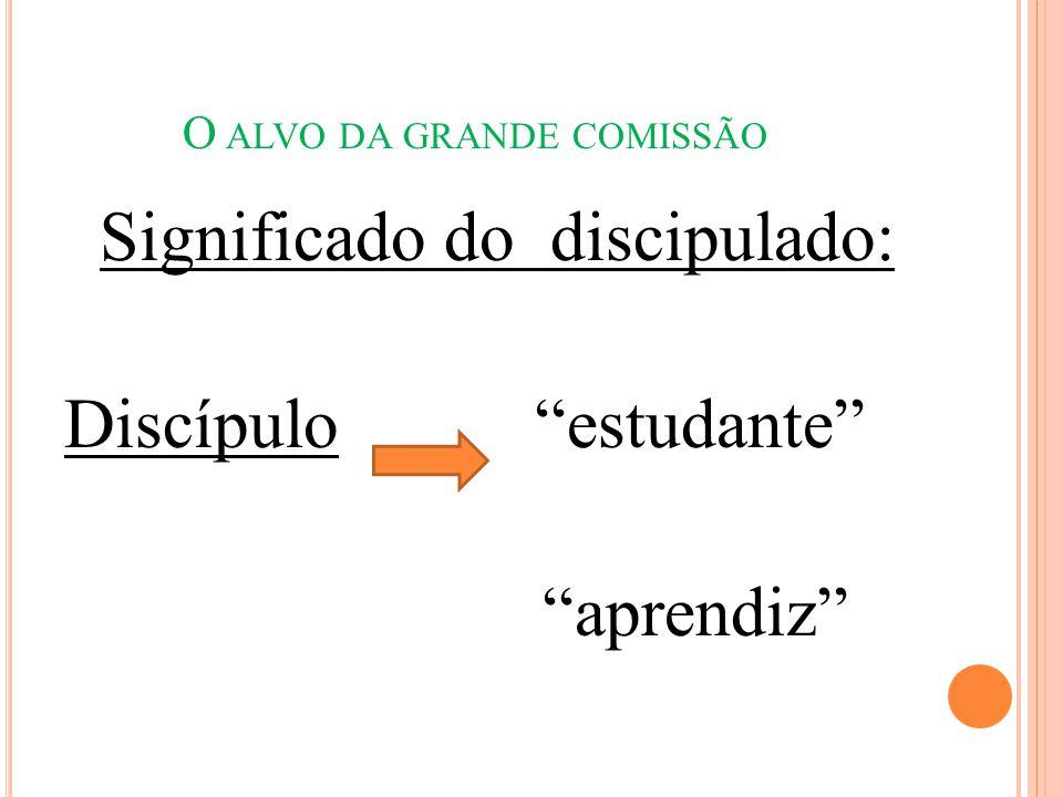 """O ALVO DA GRANDE COMISSÃO Significado do discipulado: Discípulo """"estudante"""" """"aprendiz"""""""