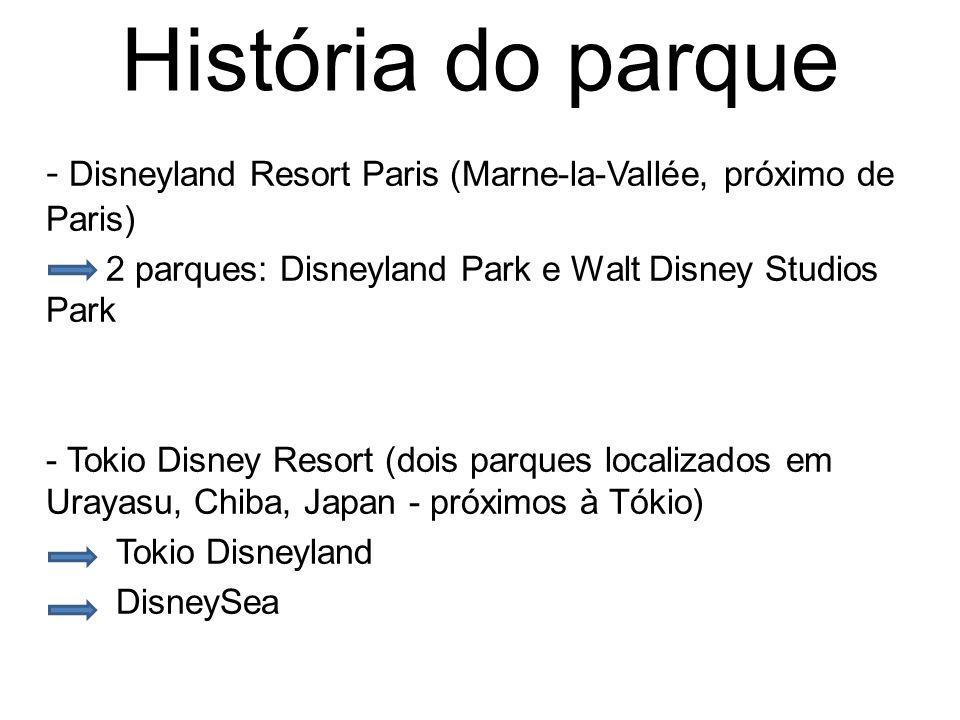 História do parque - Hong Kong Disneyland Resort (Hong Kong, Japão) É o mais novo parque da cadeia Disney: Hong Kong Disneyland