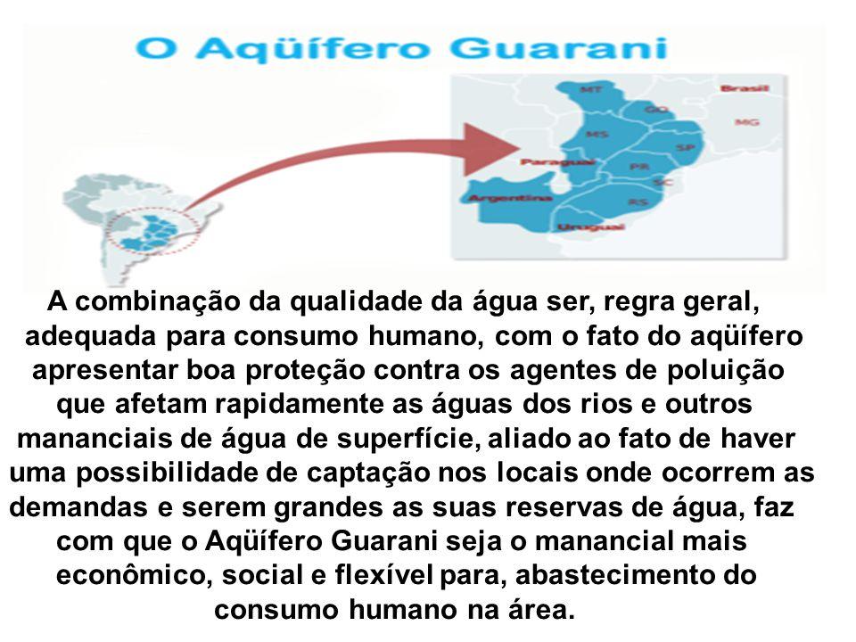 = Aqüifero Bauru =Aqüifero Serra Geral (Basalto) = Aqüifero Botucatu = Substrato do aqüifero Grupos passa dois e Tubarão T = Poço e código de seguranç