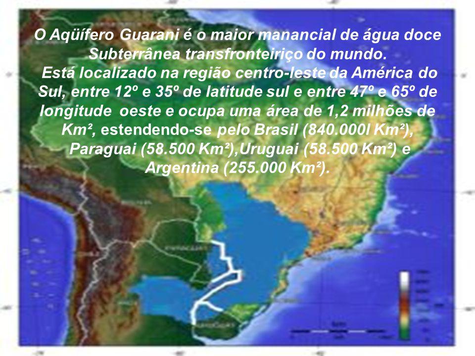 O Aqüífero Guarani é o maior manancial de água doce Subterrânea transfronteiriço do mundo.