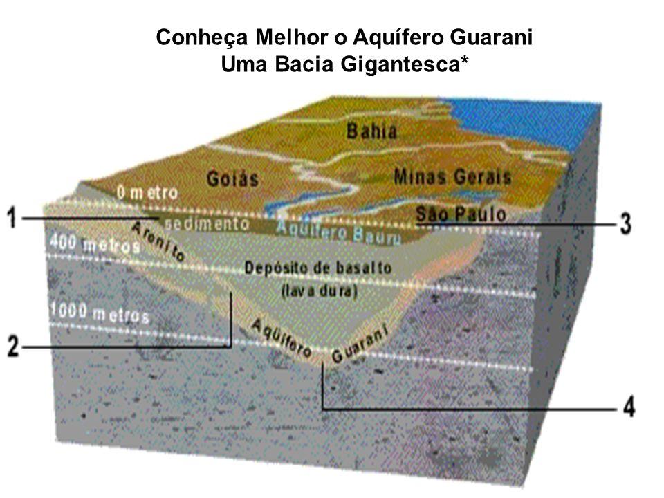 O Aquífero Guarani constitui-se em uma importante reserva estratégica para o abastecimento da população,para o desenvolvimento das atividades econômic