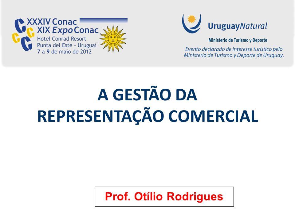 A GESTÃO DA REPRESENTAÇÃO COMERCIAL Prof. Otílio Rodrigues