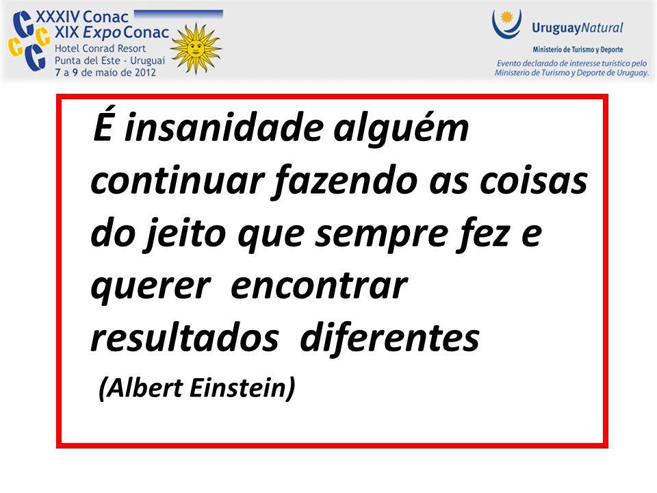 É insanidade alguém continuar fazendo as coisas do jeito que sempre fez e querer encontrar resultados diferentes (Albert Einstein)