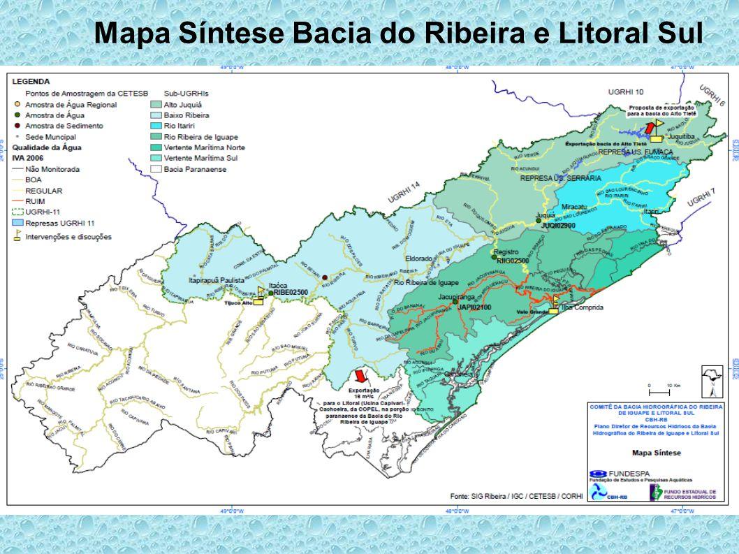 Mapa Síntese Bacia do Ribeira e Litoral Sul