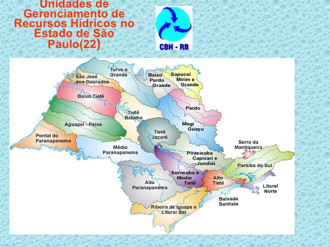 Unidades de Gerenciamento de Recursos Hídricos no Estado de São Paulo(22 )