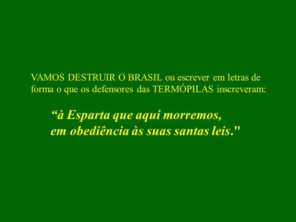 """Chegou a hora de parar. Iremos copiar dois pensamentos que expressam todo um sentimento da Nação brasileira. Palavras de CÉVOLA, o canhoto: """"quando um"""