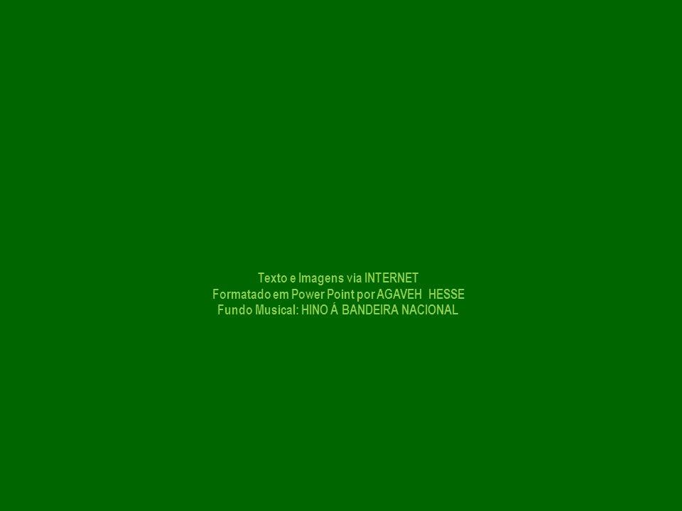 Texto e Imagens via INTERNET Formatado em Power Point por AGAVEH HESSE Fundo Musical: HINO Á BANDEIRA NACIONAL