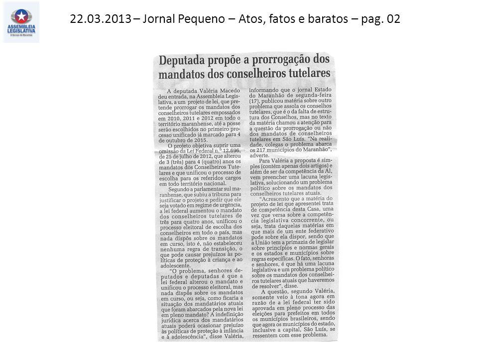 22.03.2013 – O Imparcial – Política – pag. 03