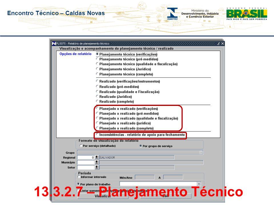 Encontro Técnico – Caldas Novas Número de Exames Formais – Pré-medidos