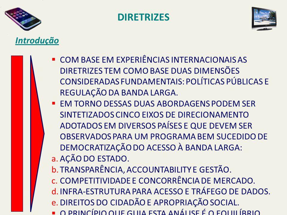 DIRETRIZES Introdução  COM BASE EM EXPERIÊNCIAS INTERNACIONAIS AS DIRETRIZES TEM COMO BASE DUAS DIMENSÕES CONSIDERADAS FUNDAMENTAIS: POLÍTICAS PÚBLIC