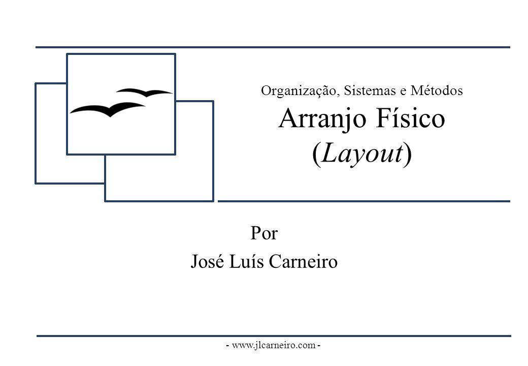 - www.jlcarneiro.com - Organização, Sistemas e Métodos Arranjo Físico (Layout) Por José Luís Carneiro