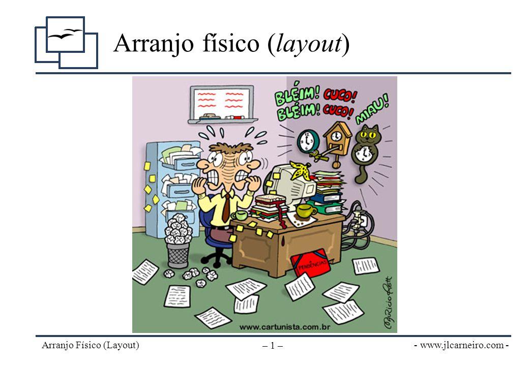 - www.jlcarneiro.com - Arranjo Físico (Layout) – 1 – Arranjo físico (layout)